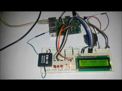 RFID Based Attendance System using Raspberry Pi - YouTube