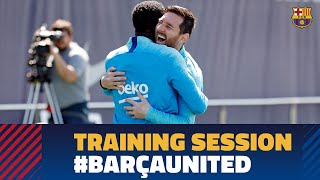 First training session to prepare the Champions League match against Manchester United