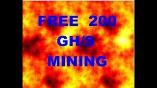 FREE 200 POWER HASH AUTO MINING