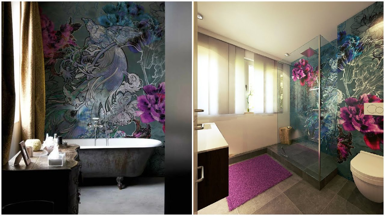 Wohlf hbad mit tapete wall dec im badezimmer design by for Badezimmer design