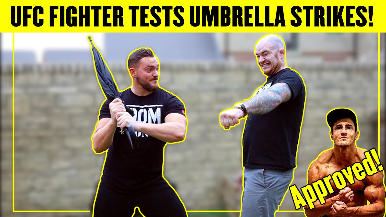 UFC FIGHTER vs SELF DEFENCE UMBRELLA! *SERIOUS PAIN* TRY NOT TO LAUGH CHALLENGE!