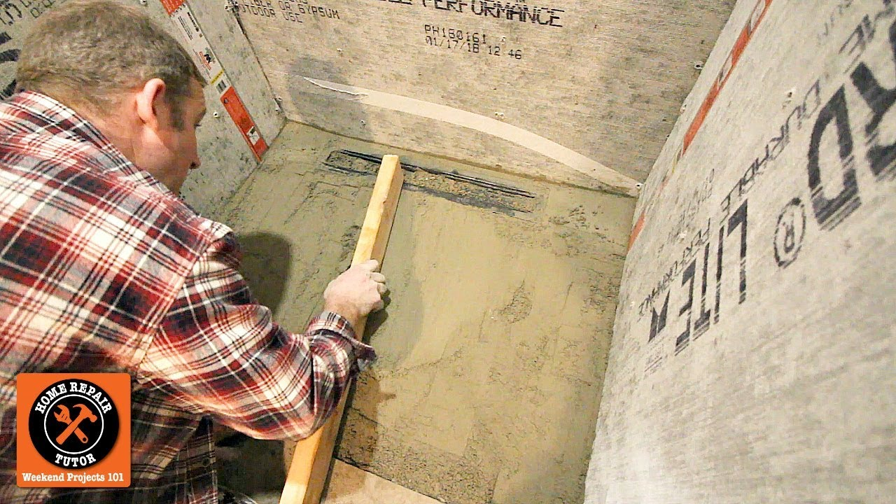 Build Curbless Walk In Shower On Concrete Subfloor Part 3 Tips For Completing Pan