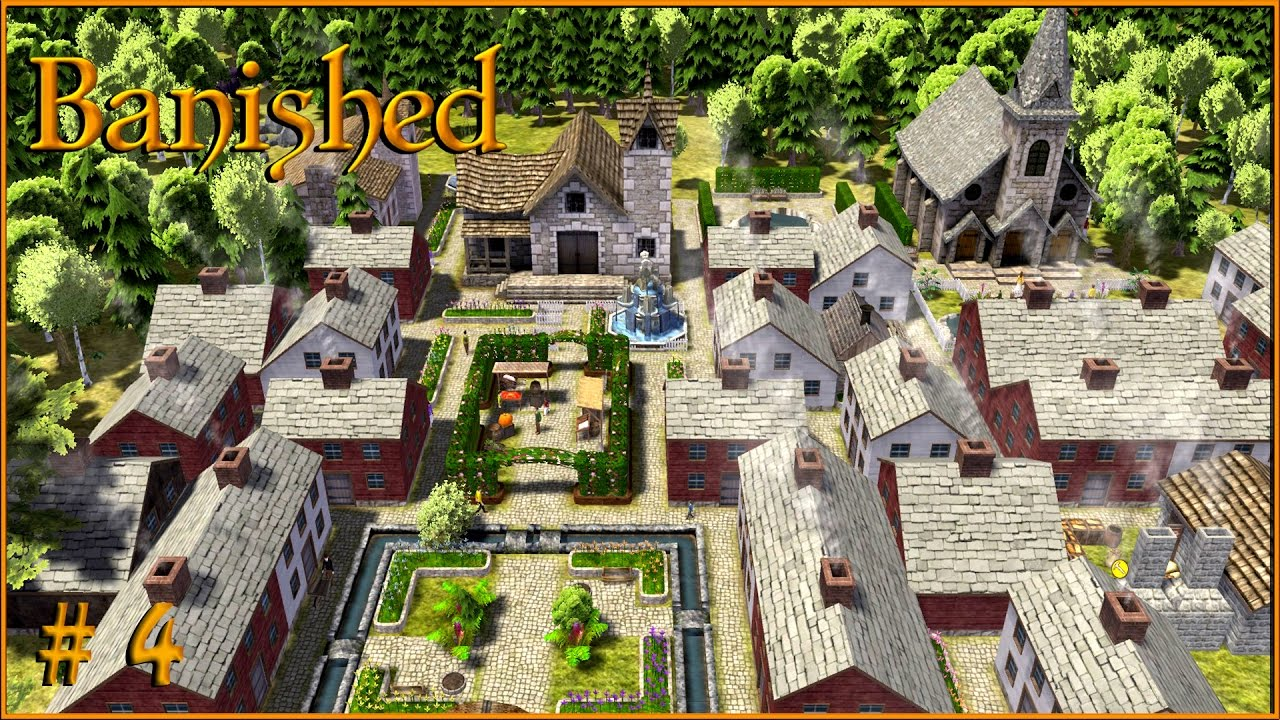 Banished Gameplay The Main Town S Church S1 Ep4 Youtube