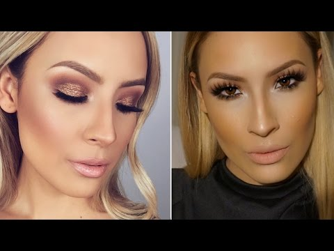 Sparkle Bronze Smokey Eye Makeup