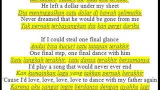 Lagu sedih untuk ayah - dance with my father (lirik dan subtitle bahasa indonesia)