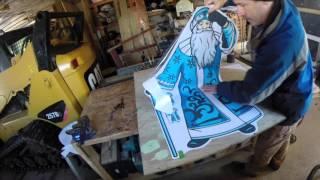 05 WC 203 Polar St Nick Plywood Yard Art Color Print Part 2
