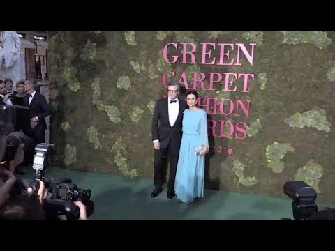 Colin Firth, Armie Hammer and more on the red carpet for the Green Carpet Fashion Awards in Milan