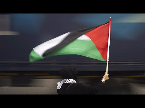 Palestinians raise flag at United Nations