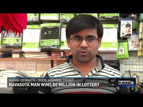 Navasota man claims $5 million Lotto Texas jackpot