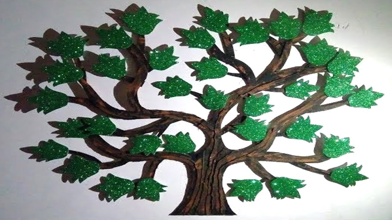 How To Make Paper Tree Decorative Wall Hanging Tree Art Diy