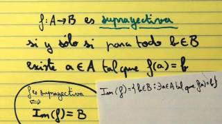 0007 I.9 Funciones inyectivas, suprayectivas y biyectivas