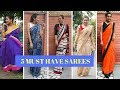 HOW TO STYLE SAREES - 5 DIFFERENT SAREES😍