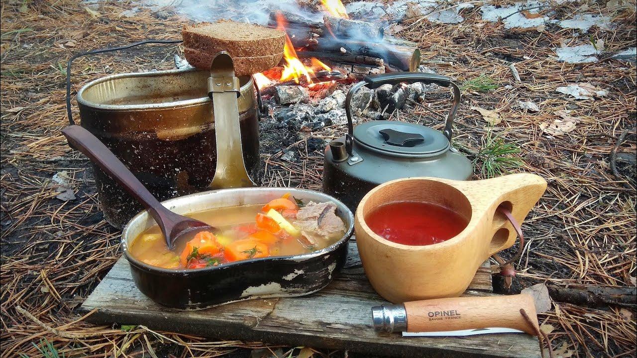 Однодневка. Одиночный поход. Полевая кухня: ШУРПА в армейском котелке.