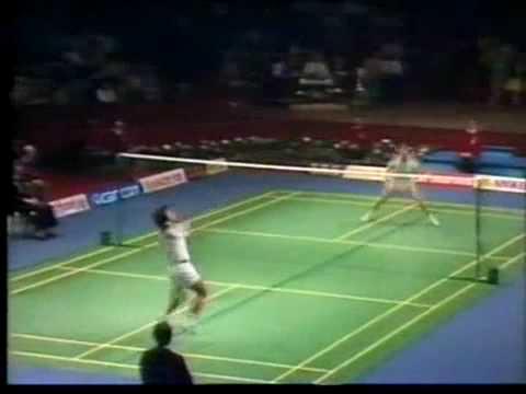 Badminton Thomas Cup 1982 Luan jin vs Rudi Hartono, game 3