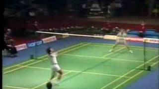 Badminton Thomas Cup 1982 Luan jin vs Rudi Hartono, game 3