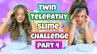 Twin Telepathy Slime Challenge Again!  Rachel vs Annelise!