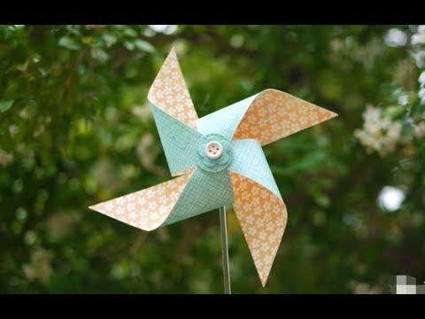 How to make a rotating paper windmill? DIY  如何制作旋转的风车?DIY