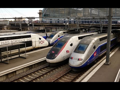 Rail Live. TGV Rush ! Beaucoup de TGV en gare de Bordeaux ! Atlantique, Réseau, Duplex, Océane, ...
