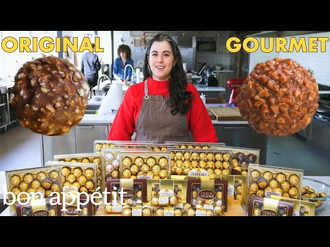 Pastry Chef Attempts to Make Gourmet Ferrero Rocher | Gourmet Makes | Bon Apptit