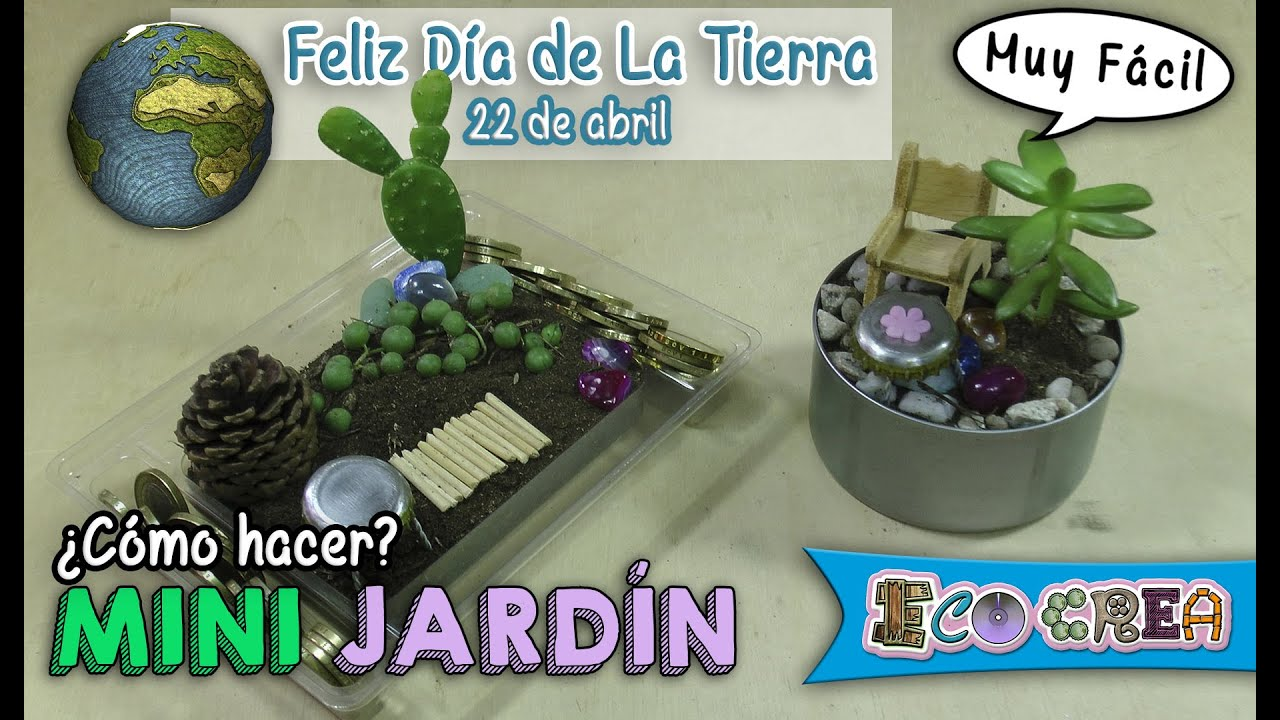 C mo hacer un mini jardin youtube for Crear un jardin paisajistico