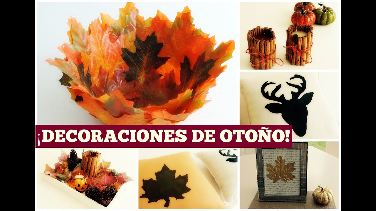 Diy decoraciones de oto o paola herrera youtube - Decoracion de otono ...