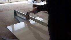 Cutting A Porcelanosa Porcelain Tile With A Sigma Tile Cutter