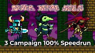 Never Before Seen - Shovel Knight Campaigns