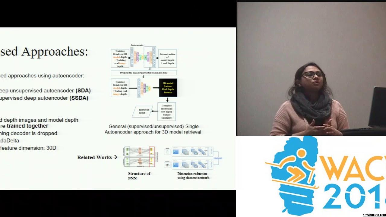 WACV18: Supervised Deep-Autoencoder for Depth Image-based 3D Model Retrieval
