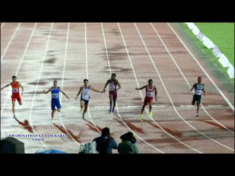 MEN'S 100m RUN FINAL. 22nd ASIAN ATHLETICS CHAMPIONSHIPS-2017 .