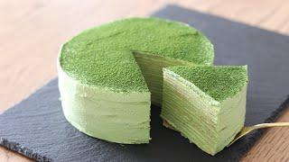 抹茶ミルクレープの作り方 Matcha Milee Crepe|HidaMari Cooking