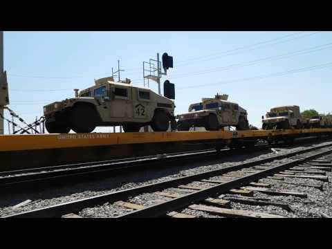 CSX  / KCS Military Train With KCS Power Mobile,AL 9-20-15