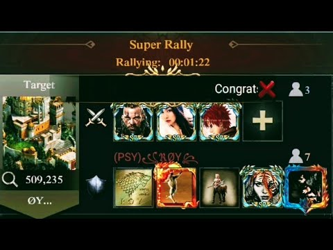Clash Of Kings : Rally 3 Players Against 7 : Also FIRAZ Friendly SOLO On Princess