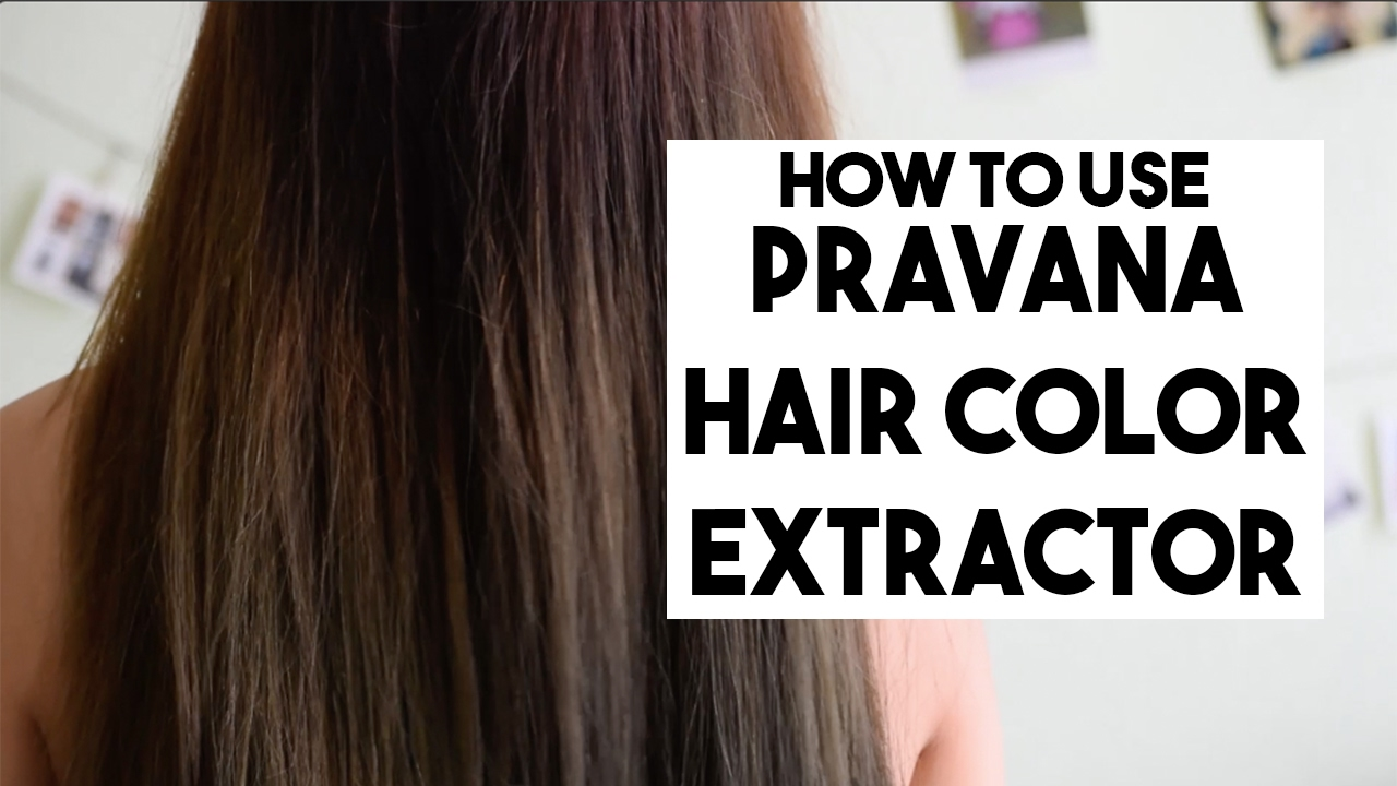 How To Ll Pravana Hair Color Extractor L Color Correction Youtube