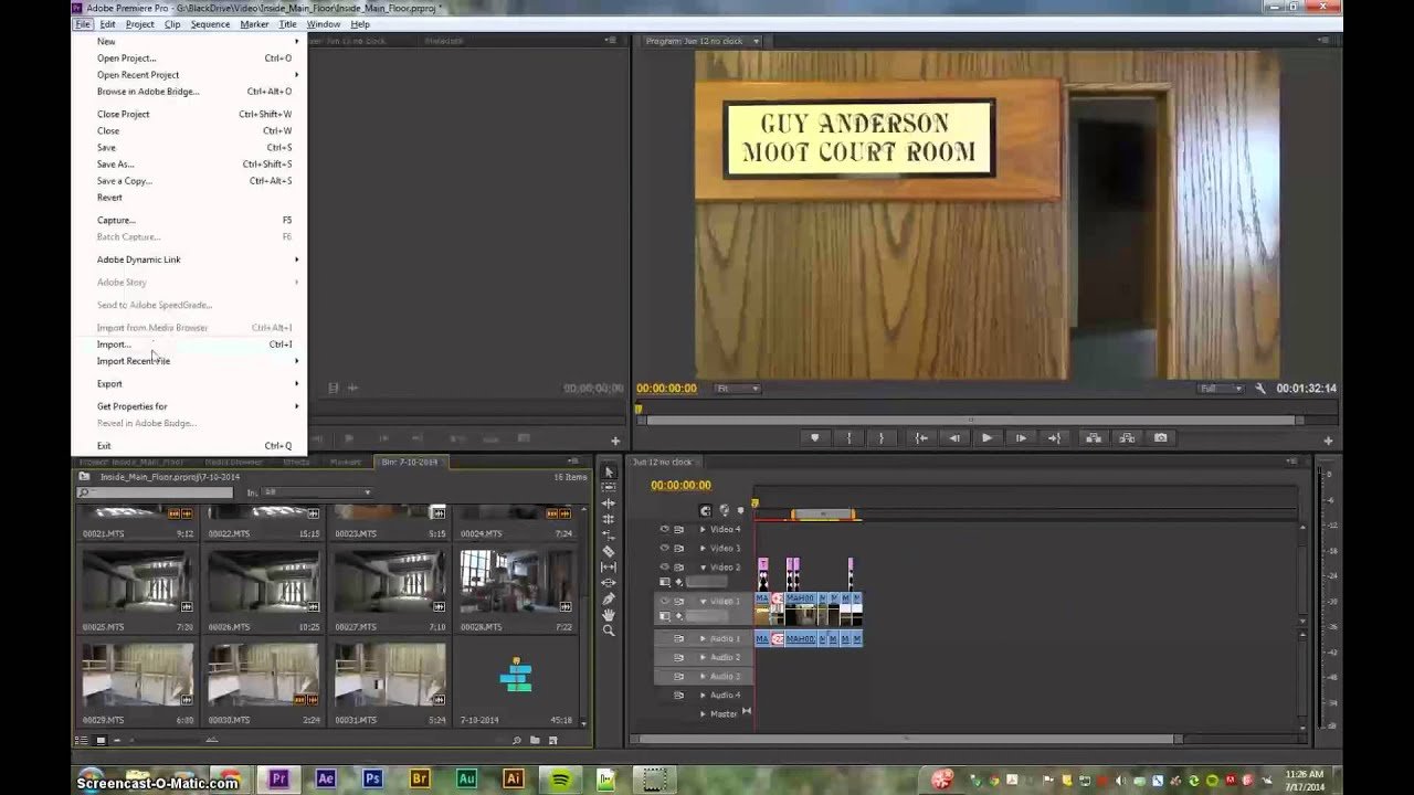 adobe premiere how to add sequence