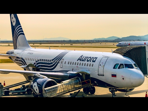 Aeroflot - Aurora Airline Airbus A319 Economy Class Flight Review Vladivostok Seoul/Аэрофлот Аврора