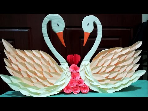 DIY Paper Swan Wall Hanging // Easy Home Decoration Idea // DIY  Gift Idea // paper craft