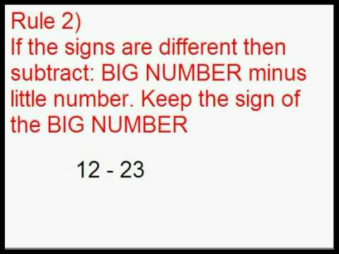 Add and subtract positive and negative numbers youtube add and subtract positive and negative numbers ibookread PDF