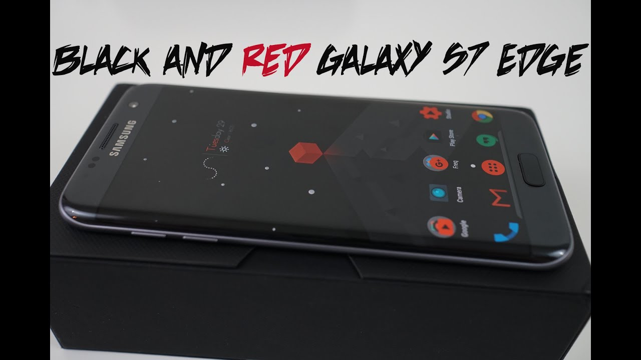 Top Android Custom Themes: Black And Red For Galaxy S7