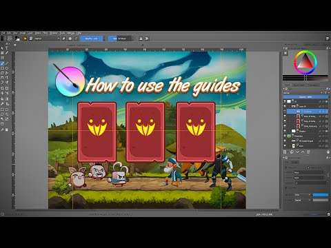 How to use the Guides in Krita 3