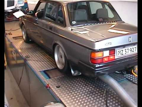 volvo 240 GLT Turbo dynorun - YouTube