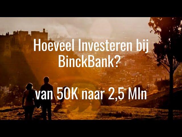 Hoeveel Investeren in BinckBank? Tips & Uitleg 50K tot 2,5 Miljoen bij BinckBank beleggen