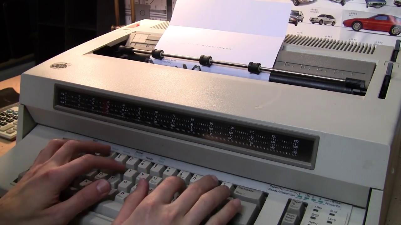 Ibm Wheelwriter 10 Series Ii Electronic Typewriter Youtube