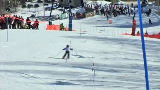 Awesome 6 year old ski racing girl