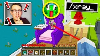 TROLLING YOUTUBERS WITH MINECRAFT HACKS IN GIANT HIDE AND SEEK!
