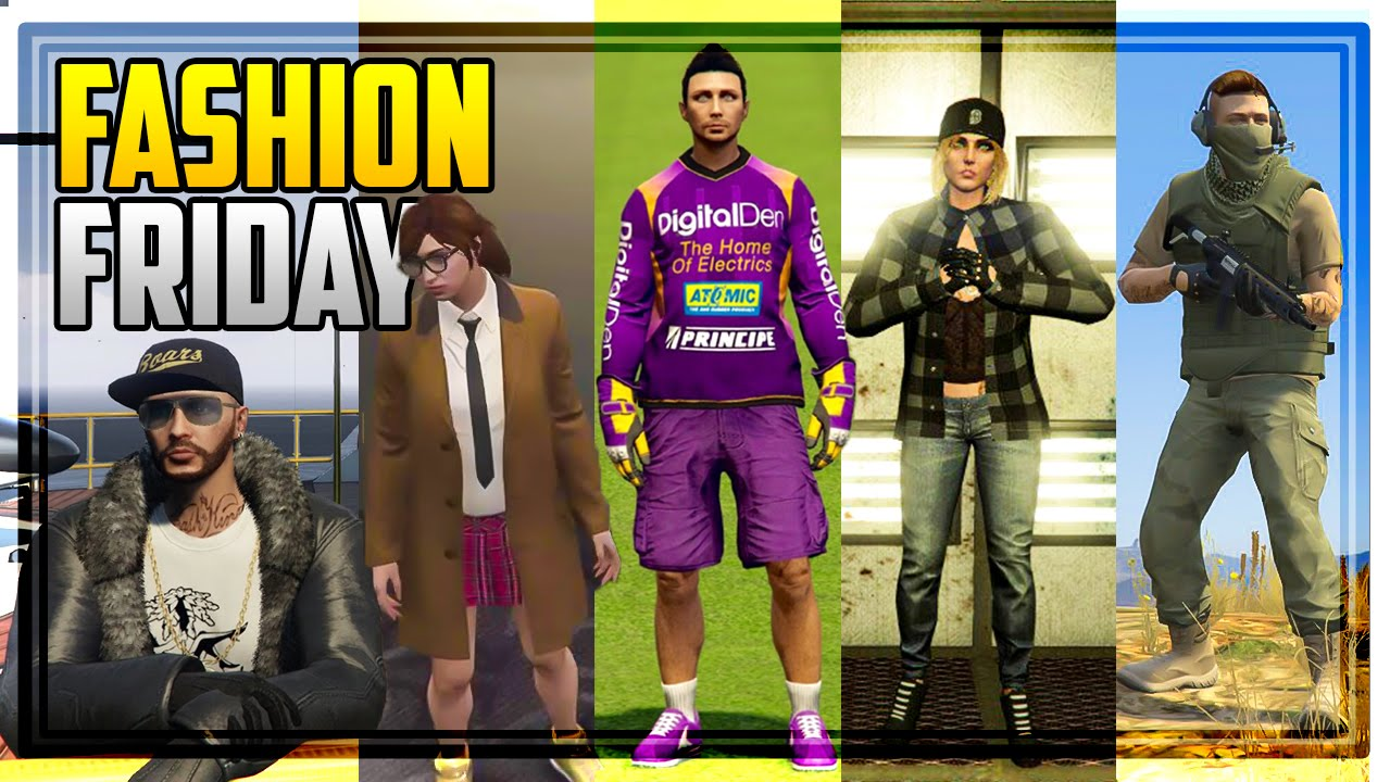 GTA 5 FASHION FRIDAY! 33 NEW OUTFITS! (The Pimp Sci-Fi Rebel Nuclear Survivor u0026 MORE) - YouTube