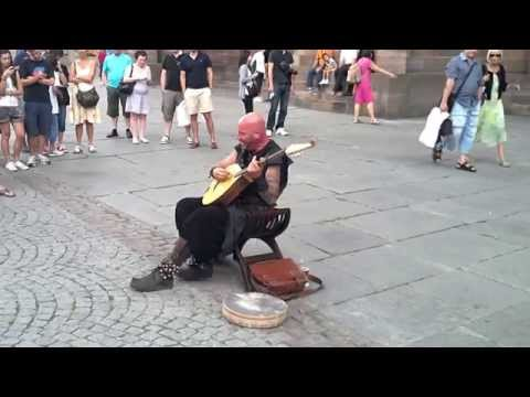 Luc Arbogast, street Performer in Strasbourg, France, has amazing vocal talent.