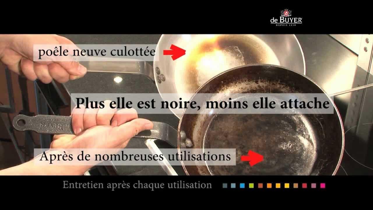culottage des poeles de buyer en fer ou wok culotter poele acier