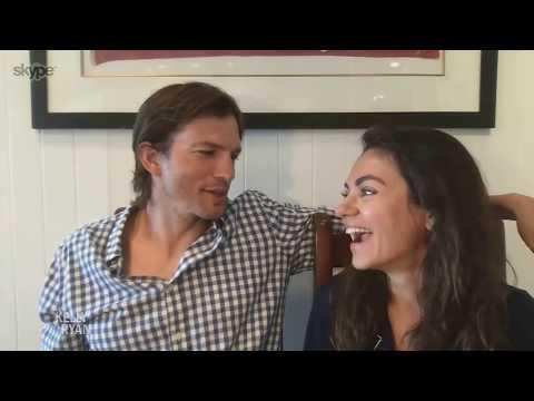 Ashton Kutcher & Mila Kunis Talk About How They're Handling Quarantine