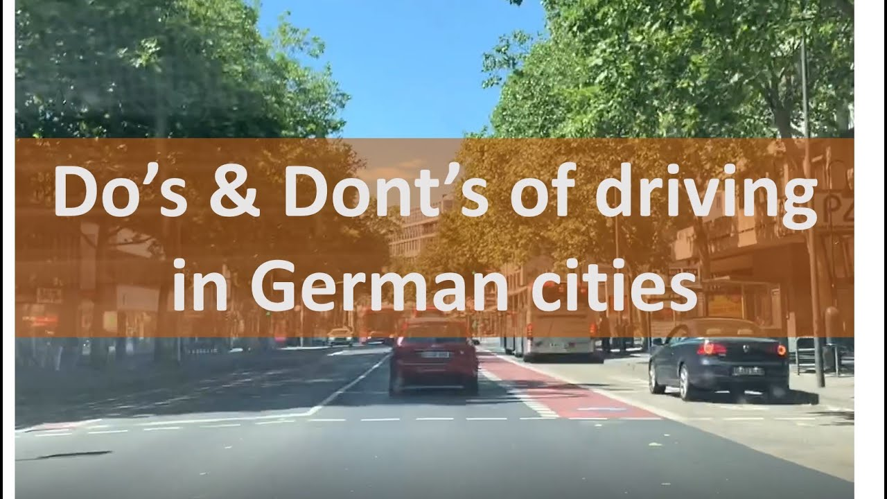 How to drive in German cities?/Do's and Dont's while driving in Germany/Indian Vlogger in Germany