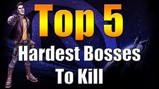 Borderlands The Pre Sequel | Top 5 | Hardest Bosses To Kill